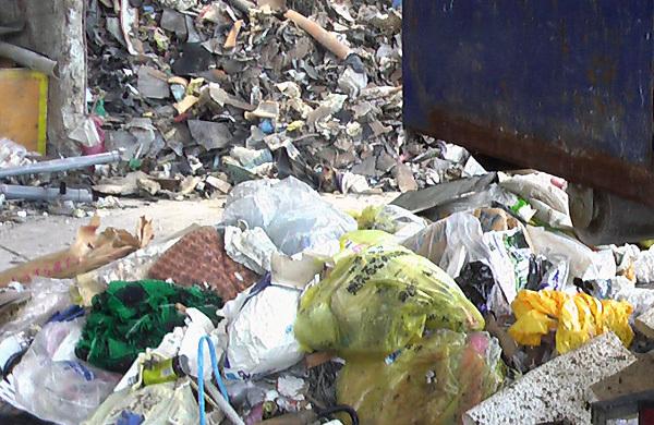 収集した一般廃棄物の写真