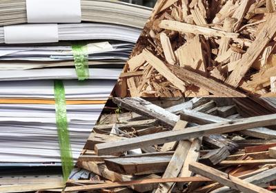 廃材・木屑・古紙回収・処分業務