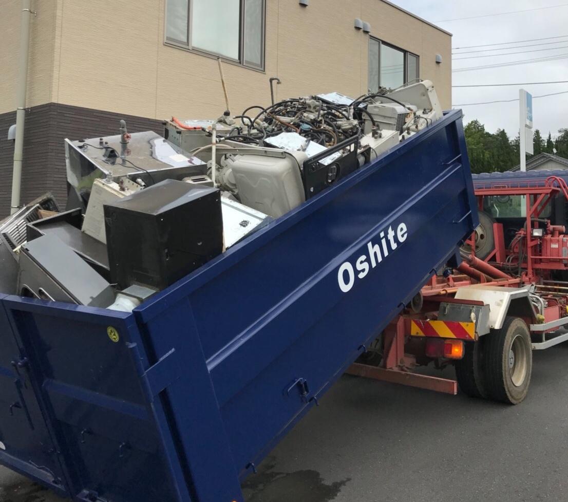 産業廃棄物回収写真