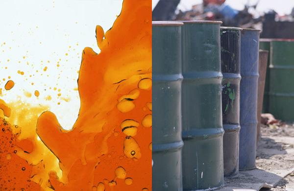 廃油などの特別管理産業廃棄物の見本写真